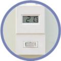 デジタル温度計付きスイッチ